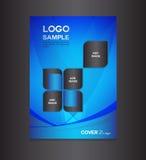 Ejemplo azul del vector del diseño de la cubierta Imagen de archivo libre de regalías