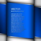 Ejemplo azul del vector del fondo de la cubierta abstracta Foto de archivo