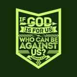 Ejemplo bíblico Si dios está para nosotros, que pueden estar contra nosotros ilustración del vector
