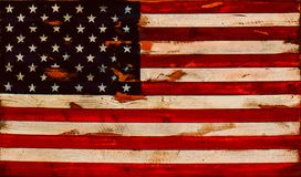 Ejemplo - bandera americana apenada de viejos tableros - fondo o elemento Foto de archivo libre de regalías