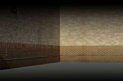 Ejemplo beige de la textura del fondo de la pared de ladrillo Fotografía de archivo