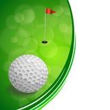 Ejemplo blanco abstracto del marco de la bola de la bandera roja del verde del deporte del golf del fondo Imagenes de archivo