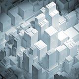 Ejemplo blanco isométrico del paisaje urbano del extracto 3d
