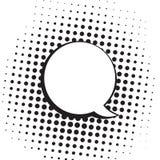 Ejemplo blanco y negro de Art Comics Speech Bubbles Vector del estallido del vintage ilustración del vector