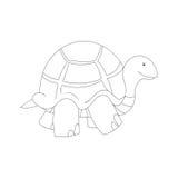 Ejemplo blanco y negro de la tortuga de la historieta Imagen de archivo libre de regalías