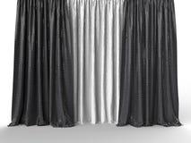 En concepto del micr fono del aire stock de ilustraci n - Cortinas en blanco y negro ...