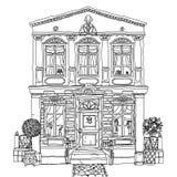 Ejemplo blanco y negro de una casa Vector libre illustration