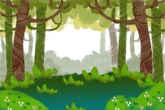 Ejemplo: Bosque verde Foto de archivo