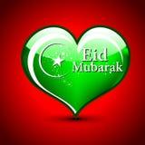 Tarjeta de felicitaciones islámica para Eid Mubarak Imagen de archivo