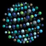 Ejemplo brillante del modelo de la molécula Fotografía de archivo