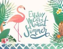 Ejemplo brillante del verano con las letras Fotografía de archivo
