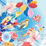 Ejemplo brillante hermoso con un pájaro Foto de archivo