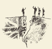 Ejemplo BRITÁNICO del vector del referéndum de la UE de Brexit del bosquejo libre illustration