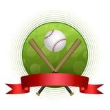 Ejemplo burocrático del marco del béisbol del fondo del deporte del círculo verde abstracto de la bola Fotos de archivo libres de regalías