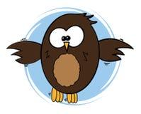 Ejemplo cómico del vector del búho del estilo imágenes de archivo libres de regalías