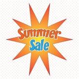 Ejemplo cómico del vector del concepto de la venta del verano del estilo del arte pop Imagenes de archivo