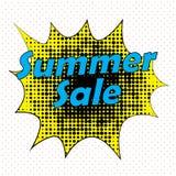 Ejemplo cómico del vector del concepto de la venta del verano del estilo del arte pop Fotografía de archivo