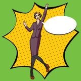 Ejemplo cómico del vector del estilo de la oficina del arte pop Foto de archivo
