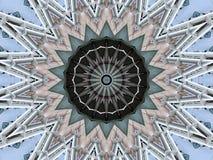 Ejemplo caleidoscópico de las estructuras del puente fotos de archivo libres de regalías