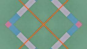 Ejemplo caleidoscópico de papeles coloreados ilustración del vector