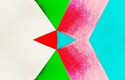 Ejemplo caleidoscópico del vintage de los papeles coloreados stock de ilustración