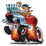 Ejemplo caliente de Rod Race Car Cartoon Vector de la cómoda con patas altas stock de ilustración