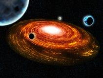 Ejemplo caliente del espacio del planeta de la galaxia Fotos de archivo libres de regalías