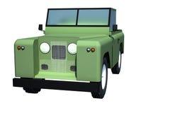 Ejemplo campo a través del vehículo 3D Foto de archivo