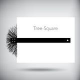 Ejemplo caprichoso cuadrado del árbol Imágenes de archivo libres de regalías
