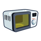 Ejemplo cartoonish del vector del horno de microondas Fotografía de archivo