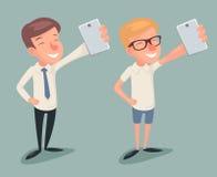Ejemplo casual del vector de Character Icons Cartoon del hombre de negocios de Selfie del inconformista del friki Imágenes de archivo libres de regalías
