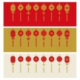 Ejemplo chino del vector del fondo de la bandera del Año Nuevo stock de ilustración