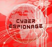Ejemplo cibernético criminal del ataque 3d del espionaje cibernético libre illustration