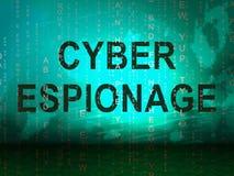 Ejemplo cibernético criminal del ataque 3d del espionaje cibernético ilustración del vector