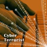 Ejemplo cibernético de Extremism Hacking Alert 3d del terrorista ilustración del vector