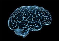 Ejemplo cibernético del vector del concepto de la mente ilustración del vector