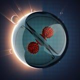 Ejemplo científico de la célula micro Imagen de archivo libre de regalías
