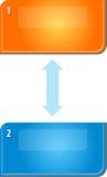 Ejemplo circular de la relación del diagrama en blanco del negocio dos Imagen de archivo