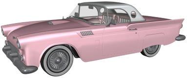 Ejemplo clásico retro del coche aislado Foto de archivo