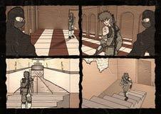 Ejemplo cómico de la página Imagenes de archivo