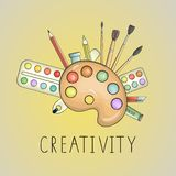 Ejemplo coloreado brillante de la creatividad del arte stock de ilustración