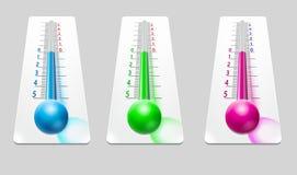 Ejemplo coloreado del termómetro Fotografía de archivo libre de regalías