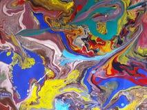 Ejemplo coloreado extracto del diseño de la pintura Imagen de archivo