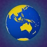 Ejemplo coloreado hermoso 3d de la opinión Australia de la tierra ilustración del vector