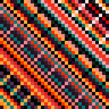 Ejemplo coloreado hermoso del vector del modelo del pixel stock de ilustración