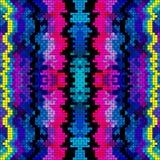 Ejemplo coloreado hermoso del vector del modelo del pixel ilustración del vector