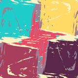 Ejemplo coloreado psicodélico del vector del modelo de la pintada libre illustration
