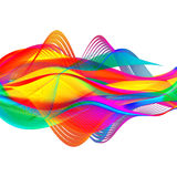 Ejemplo colorido abstracto del fondo del remolino Foto de archivo libre de regalías