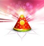 Ejemplo colorido de la galleta hermosa del diwali ilustración del vector