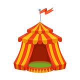 Ejemplo colorido de la tienda de circo de la historieta Diseño del vector Imagenes de archivo